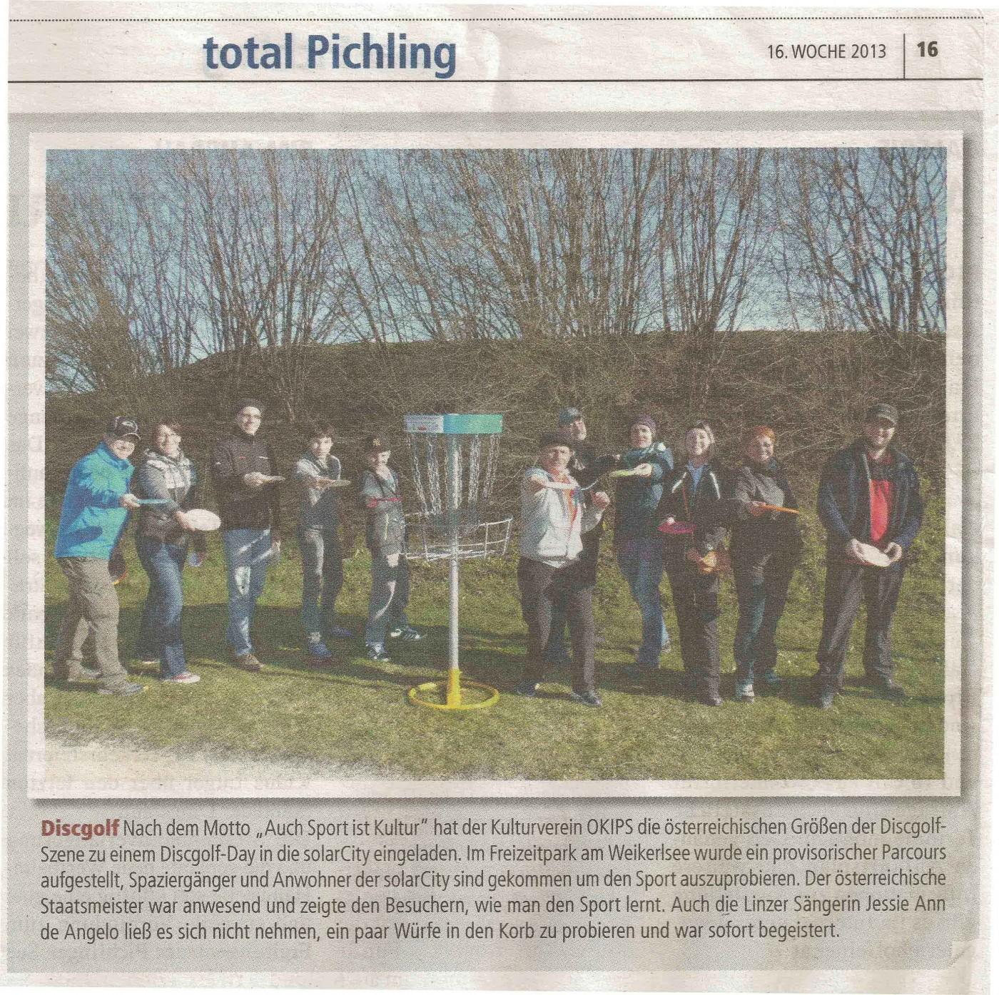 KUMM Disc-Golf präsentiert sich in der solarCity / Linz